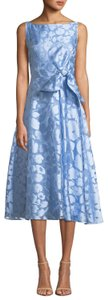 Lela Rose Floral Jacquard Tea Length Dress
