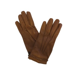 Gucci GUCCI Brown Leather Gloves