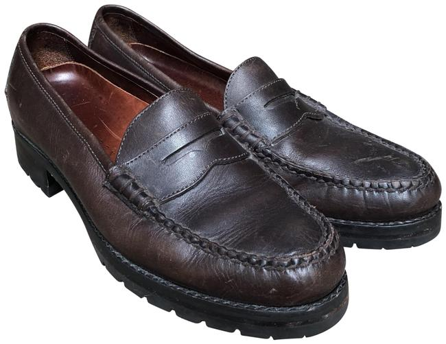 Item - Brown Classic Leather Loafers Pumps Size US 8 Regular (M, B)
