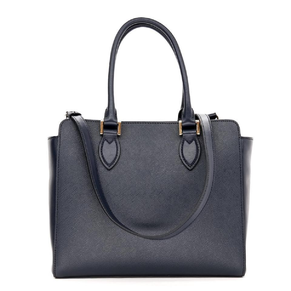 330c9183f072 Prada Lux Women's Blue Saffiano Handbag 1ba118 Navy Leather Tote ...