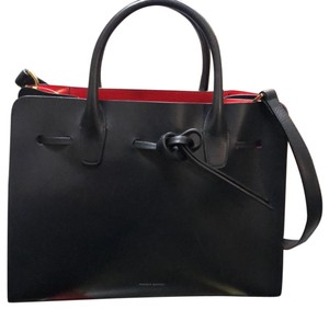 Mansur Gavriel Satchel in Black With Red Interior
