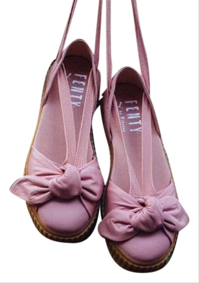 online store 5ef64 3c997 FENTY PUMA by Rihanna Pink Bow Leather Creeper Sandals Size US 8 Regular  (M, B) 52% off retail