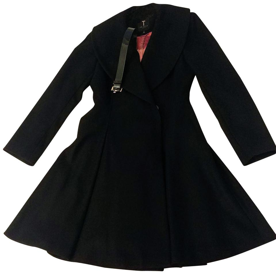 91b15043f1d1 Ted Baker Black Laureol Coat Size 6 (S) - Tradesy