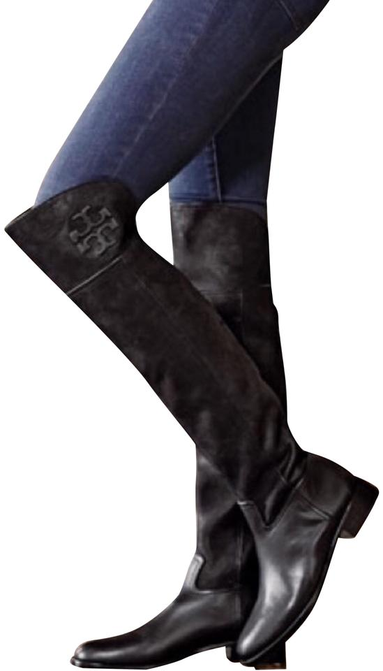 2be3edbe55c Tory Burch Black Simone Over The Knee Boots Booties Size US 6.5 ...