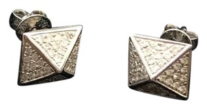 EF Collection Diamond Pyramid Stud Earring