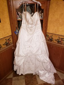 Alfred Angelo White 672665 Formal Wedding Dress Size 18 (XL, Plus 0x)