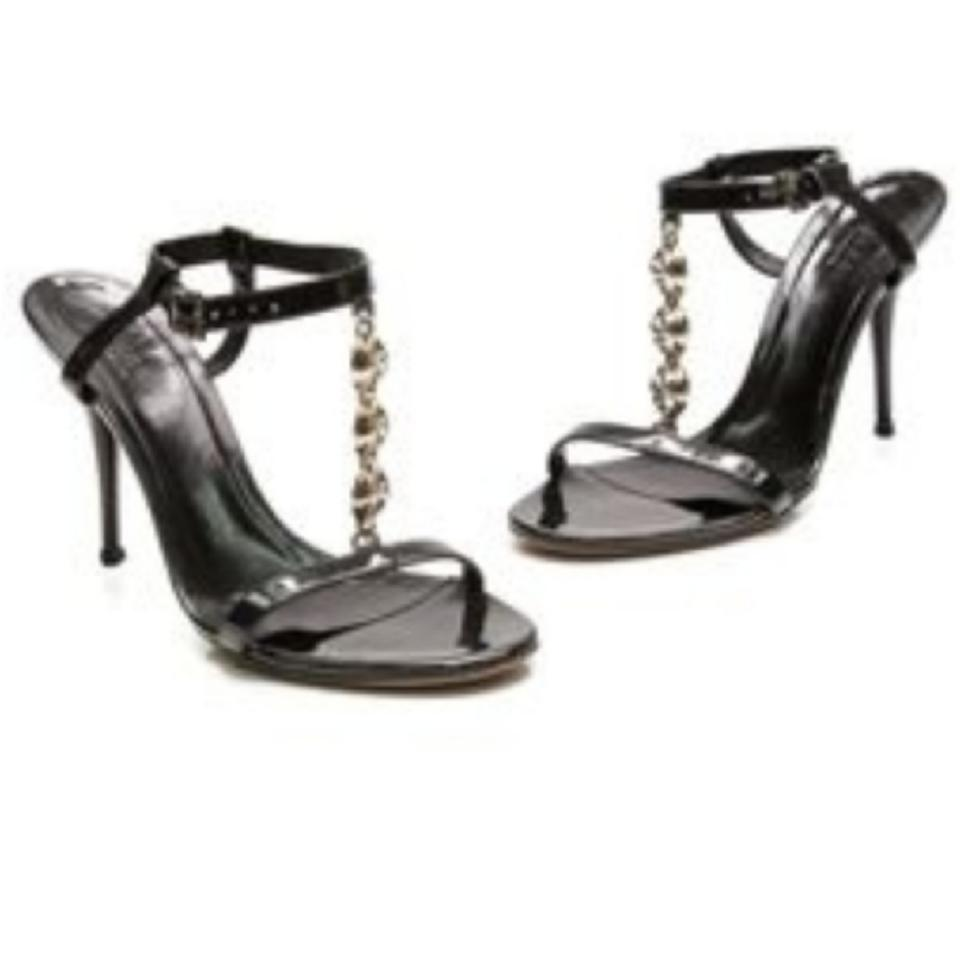 adecebfcc3ab Gucci Black Patent Leather T-strap Sandals Formal Shoes Size US 7 Regular  (M