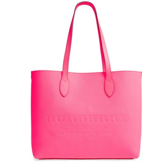 Preload https://img-static.tradesy.com/item/24464764/burberry-london-soft-leather-ble-large-remington-neon-pink-tote-0-0-540-540.jpg