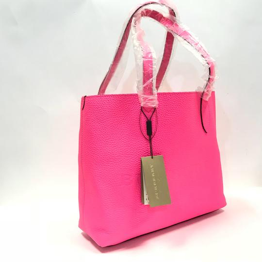 Burberry London Tote in neon pink