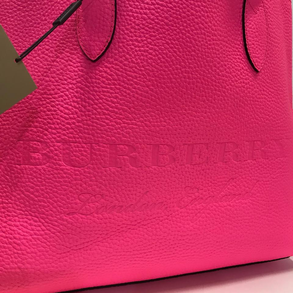 Burberry London Soft Leather Ble Large Remington Neon Pink Tote - Tradesy 553467a57ef08