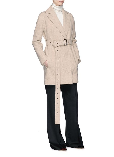 The Row Belted Monire Wool-blend Sand Jacket