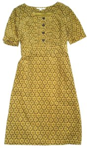Boden Corduroy Brown Elbow Length Slleeve Dress