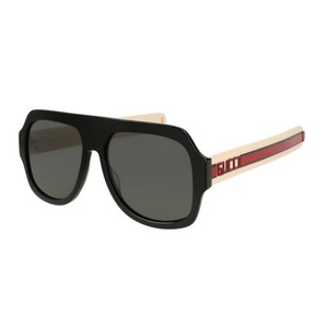 74ea894da Gucci NEW Gucci GG0255S 0255S 001 Oversized Aviator Sunglasses