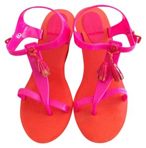 Juicy Couture Hot Pink/Orange Wedges