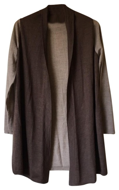 Preload https://img-static.tradesy.com/item/24465234/eileen-fisher-brown-open-front-cardigan-size-2-xs-0-1-650-650.jpg