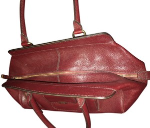 Tod's Satchel in cranberry