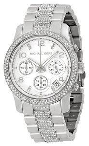 Michael Kors BRAND NEW MICHAEL KORS Runway Glitz Chronograph Ladies Watch MK5825