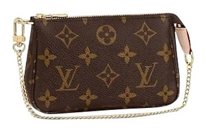 Louis Vuitton Pochette Mini Pouch Wristlet in Monogram