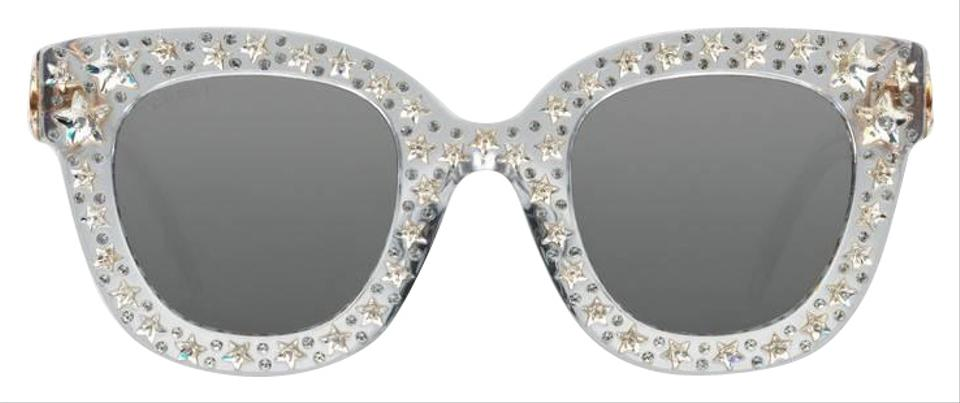 d0f47455d23 Gucci Clear Gg0116s 0116s 001 Star Crystal Oversized Sunglasses ...