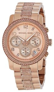 Michael Kors NEW Michael Kors Rose Gold Runway Glitz Chronograph Mk5827 Watch