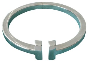 Tiffany & Co. .925 T square bangle bracelet s