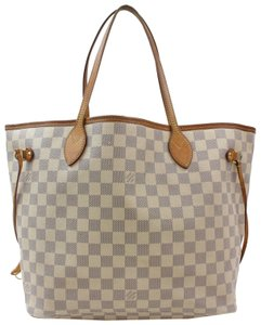 Louis Vuitton Neverfill Neverfold Neverfull Cream Neverfull Gm Tote in White