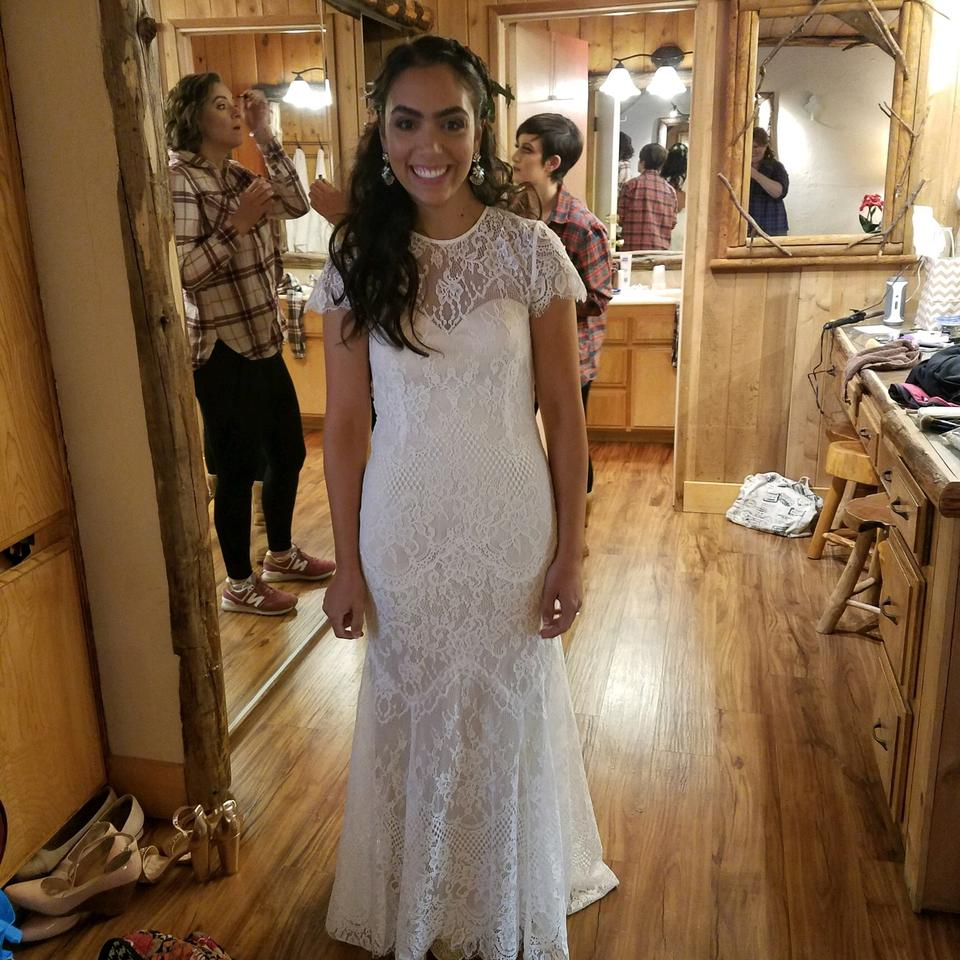 Catherine Deane For BHLDN Ivory Lace Lavi Gown Feminine