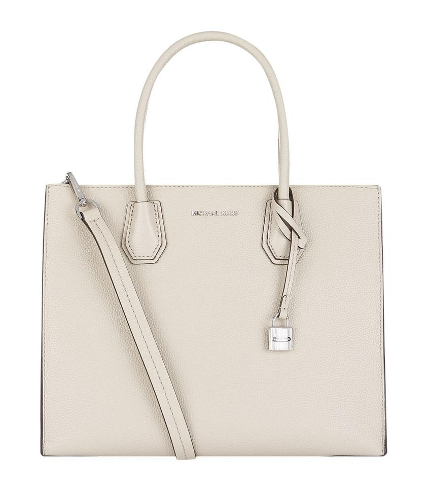 ba0fbdf6a09b19 Michael Kors Mercer Large Convertible Cement Leather Tote - Tradesy
