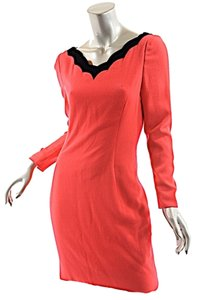 Carolina Herrera short dress Red with Black on Tradesy