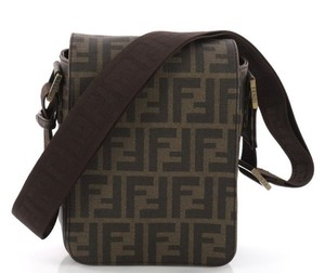 Fendi Zucca Monogram Flap Shoulder Bag