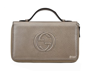Gucci Gucci Soho Larger Double Zip Travel Leather Wallet
