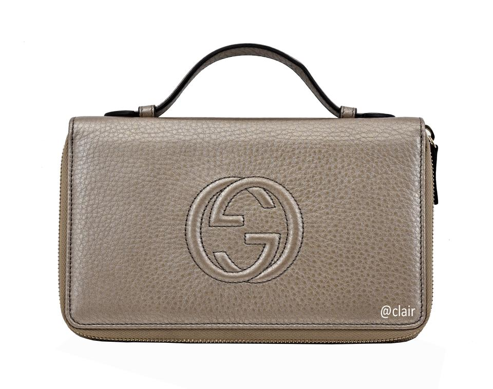 3e88bc0200e8 Gucci Gucci Soho Larger Double Zip Travel Leather Wallet Image 0 ...