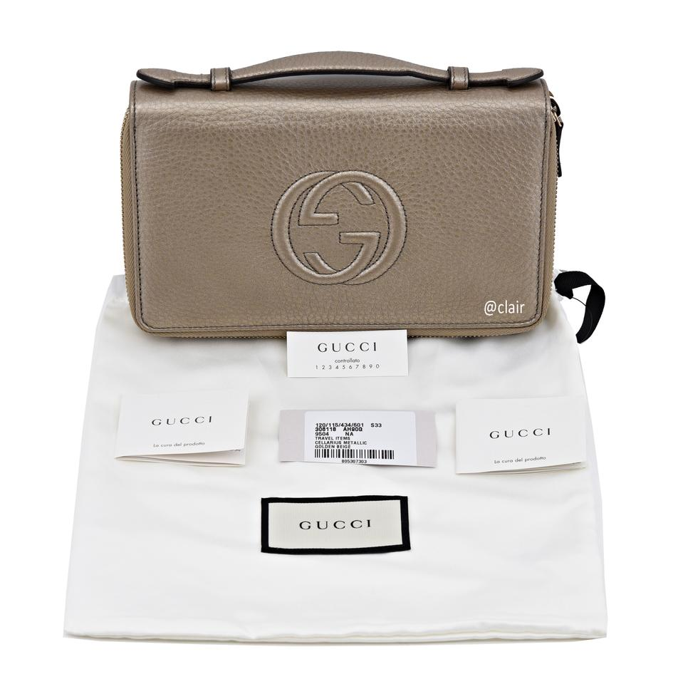 a65c1d2ebafe Gucci Gucci Soho Larger Double Zip Travel Leather Wallet Image 8. 123456789