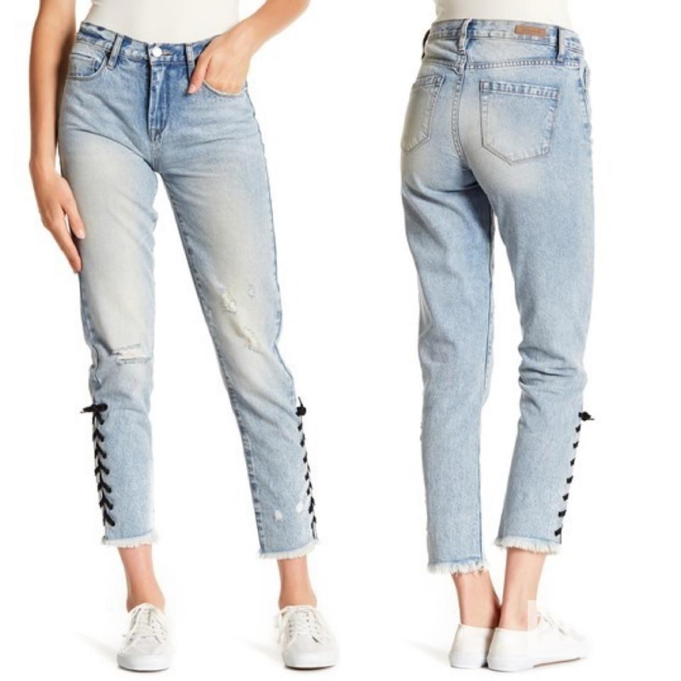 6a3909de9f10 BlankNYC Distressed High Rise Laced Ankle Skinny Jeans Size 4 (S, 27 ...