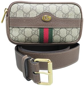 Gucci Supreme Ophidia Belted Iphone Case brown Diaper Bag