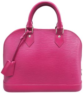 Louis Vuitton Epi Alma Pm Satchel in Fuchsia