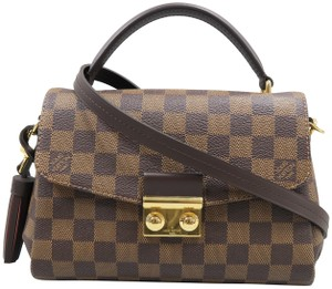 Louis Vuitton Lv Croisette Damier Ebene Canvas Satchel in brown