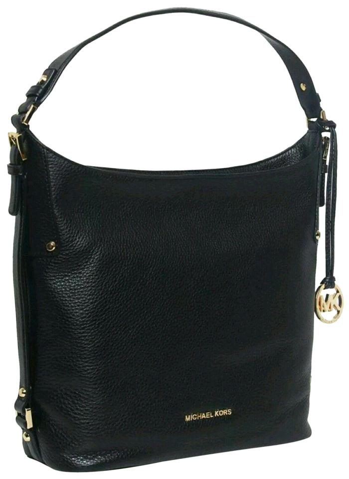 2f8026b6a342 Michael Kors Venus Leather Pebbled Leather Mk Charm Hobo Shoulder Bag Image  0 ...