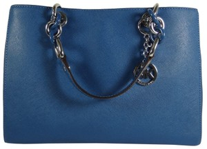 Michael Kors Leather 889154855359 Satchel in Blue
