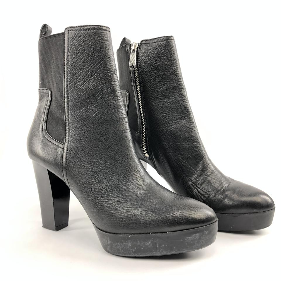 30a39496161e Donald J. Pliner Black Milan 2 Ankle Gore Pull Up Heels Chelsea Boots  Booties