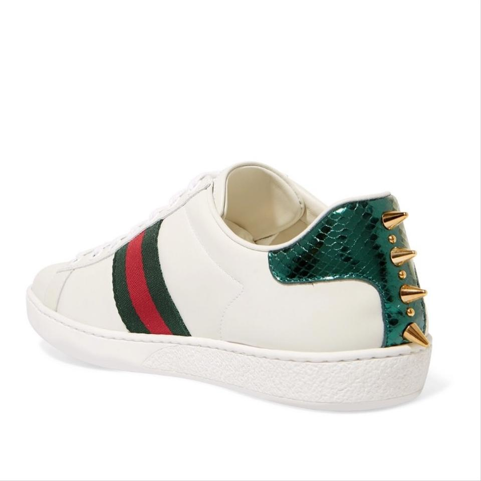 384f0b3ea87 Gucci Ace Spike and Pearl Embellished Leather Sneakers Sneakers Size ...