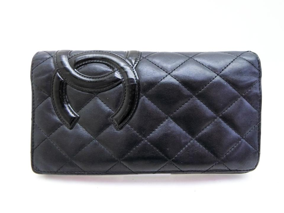 76dc12be5f7d Chanel Long Wallet Cambon Quilted Lambskin Ligne Yen Bifold 233090 ...