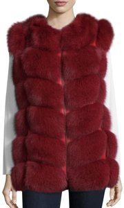 Neiman Marcus Fox Vest Fur Coat