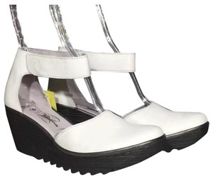 FLY London Cool Tone White Wedges