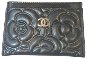 Chanel Camilla Card Holder Pebbled Lambskin Leather