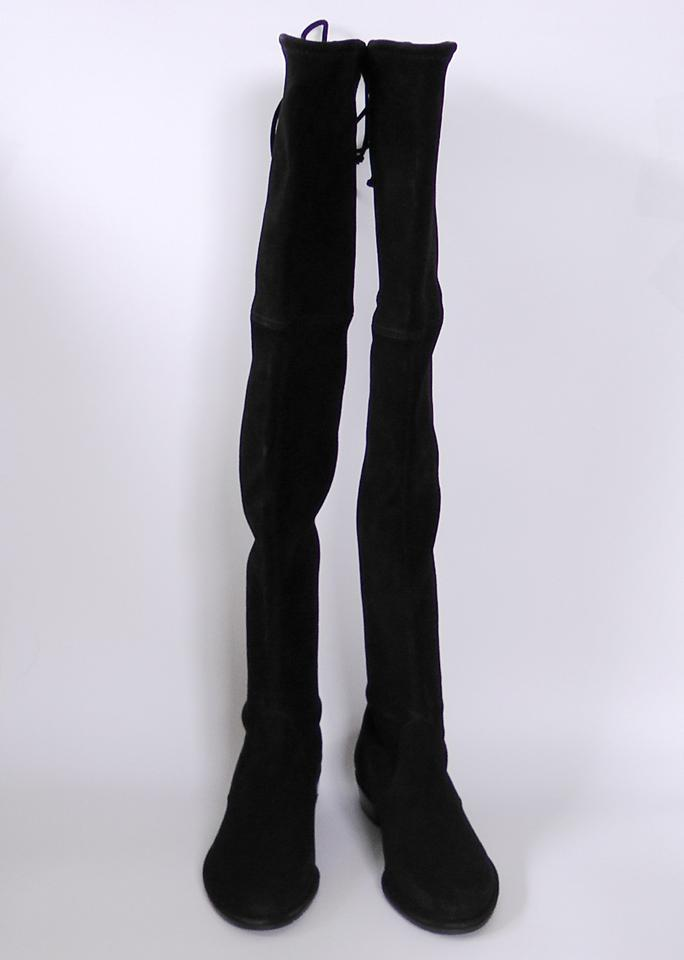 ca8a748735b Stuart Weitzman Black Lowland Suede Over The Knee Boots/Booties Size US 9  Regular (M, B) 21% off retail