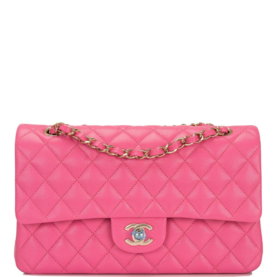 6d8ce438fe87 Chanel Classic Flap Quilted Caviar Medium Classic Double Pink ...