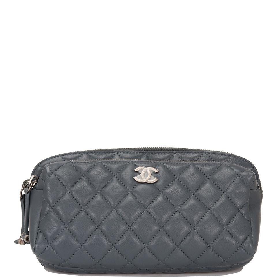 5dd2c194a9a1ec Chanel Waist Quilted Calfskin (Fanny Pack) Grey Leather Shoulder Bag ...