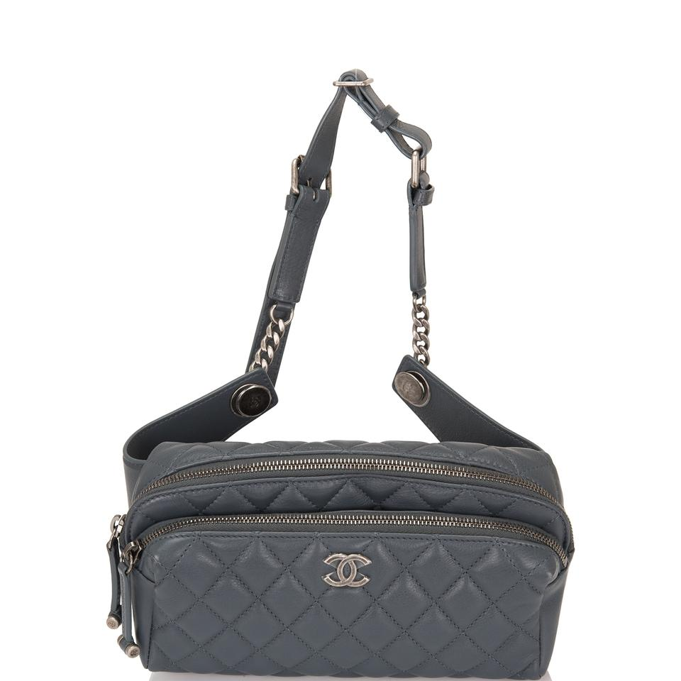 063a75e0 Chanel Waist Quilted Calfskin (Fanny Pack) Grey Leather Shoulder Bag