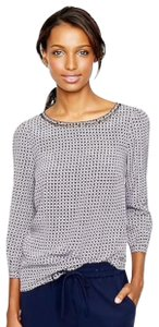 J.Crew Crew Scalloped Cutout Silk Top